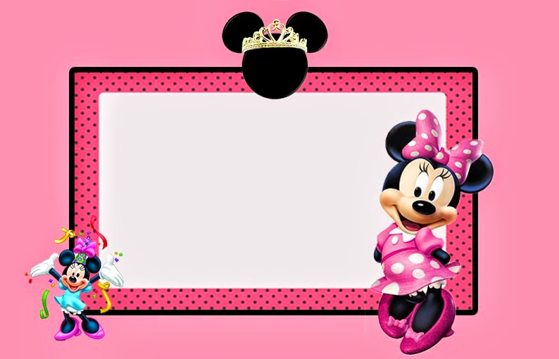 Minnie Mouse in Pink: Free Printable Invitations, Labels or Cards. | Is it for PARTIES? Is it ...