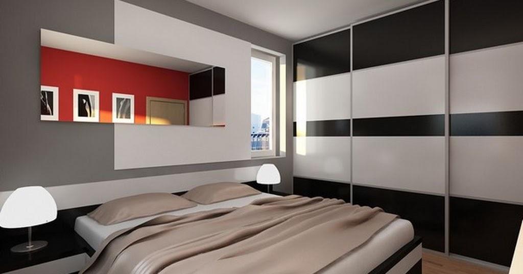 chambre noir et blanc design