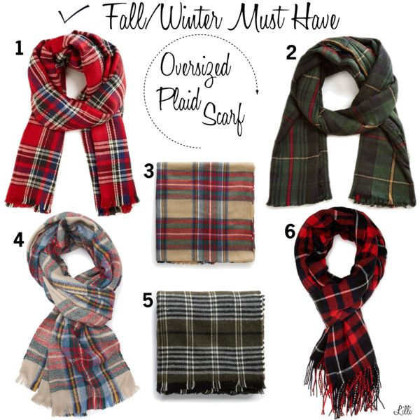 Oversized Plaid Scarf - F/W Must Have