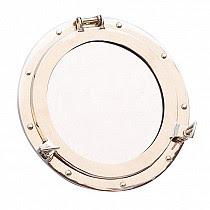 porthole mirror gold