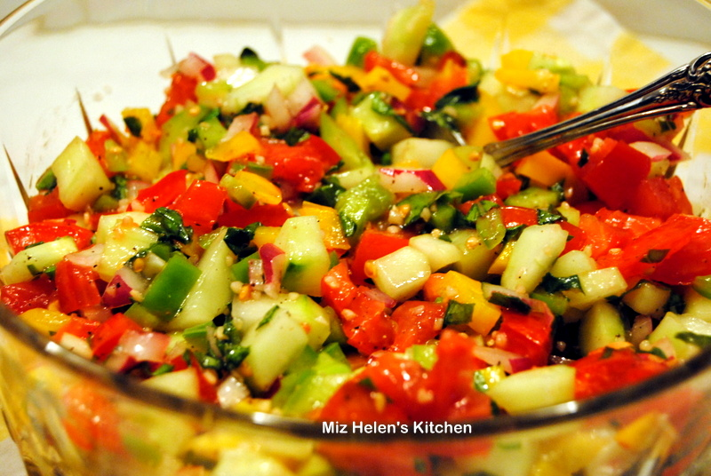 Gazpacho Salad at Miz Helen's Country Cottage