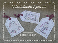 Ol' Saint Nicholas Pattern 3 Piece Set $4.00