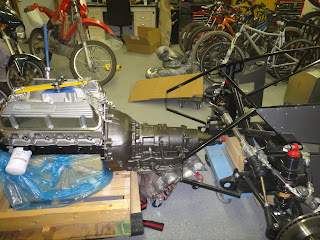 The Wrenchette  A Girl Builds a Roadster  1st Engine Tranny fit