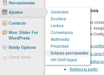 Solucionando the page cannot be found en wordpress