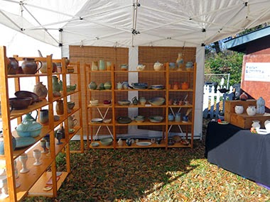 Future Relics Pottery Festival display booth