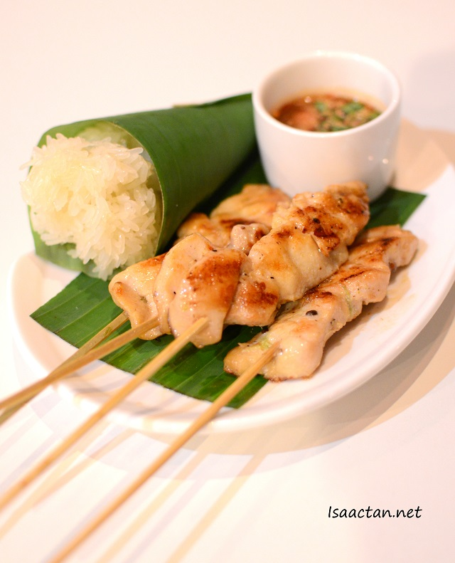 Chicken Skewers with Sticky Rice - RM9