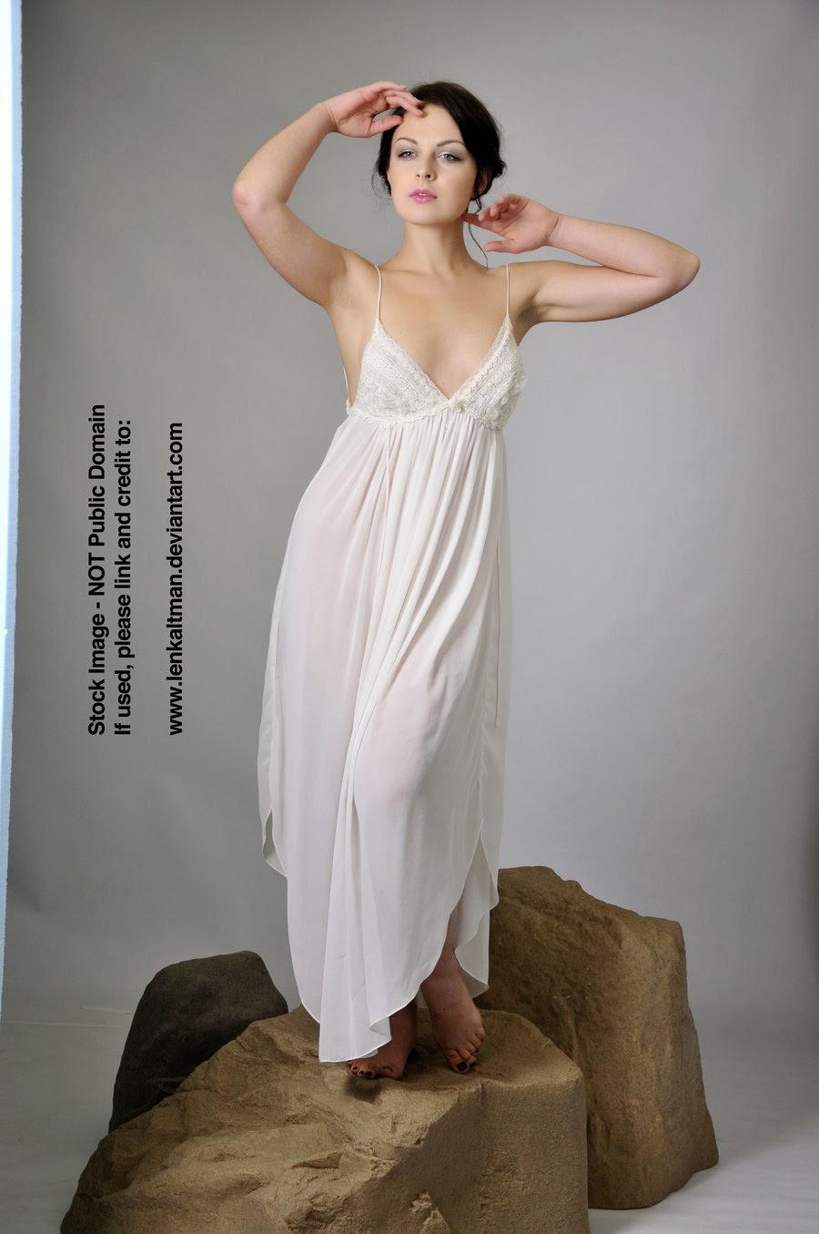 STOCK: Anastasia posing elegantly on rock (Standing)
