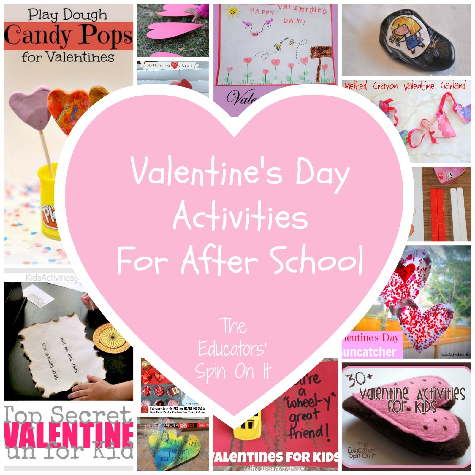 Last minute valentine 39 s day ideas the educators 39 spin on it for Valentine party crafts for school