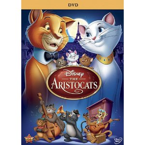 DVD cover The Aristocats 1970 disneyjuniorblog.blogspot.com
