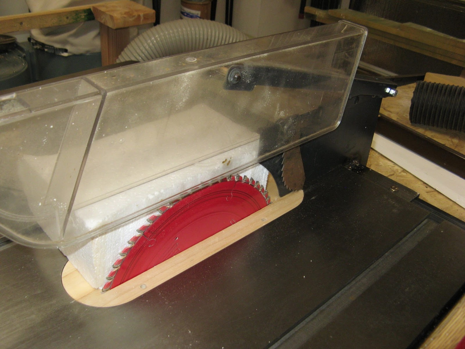 Geezertalk Table Saw Blade Guard Dust Collector Mark2