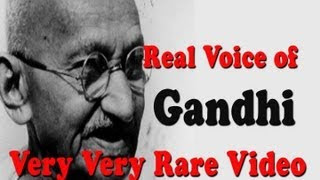 very very rare footage of Mahatma Gandhi .. he Talks about independence ( Must watch)