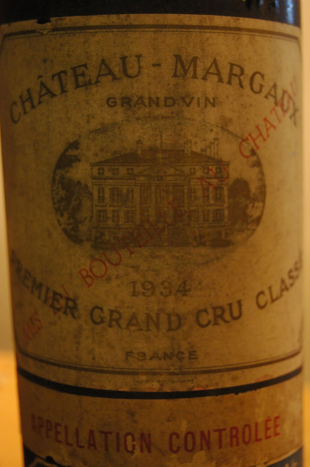 My wines and more 1934 ch teau margaux perfection for Chateau margaux