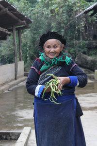 A Pa Dí ethnic minority  woman in Mường Khương