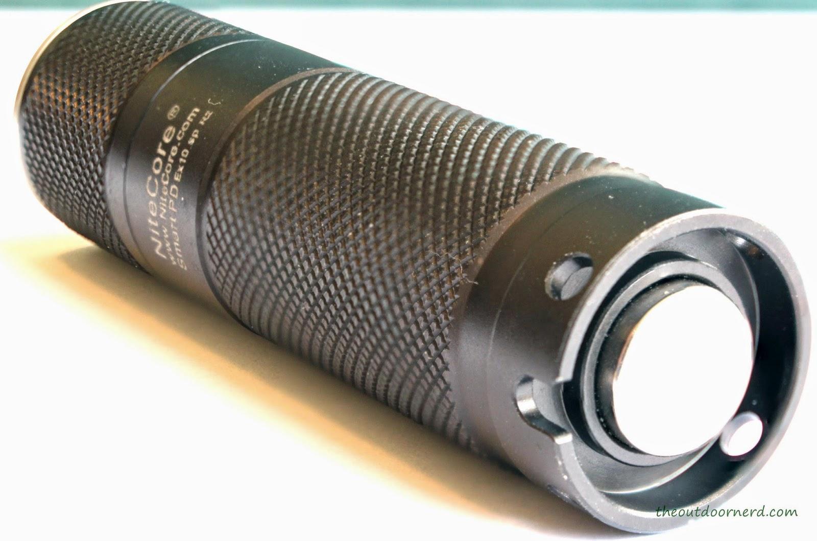 Nitecore Ex10 1xCR123A Flashlight : Rear View