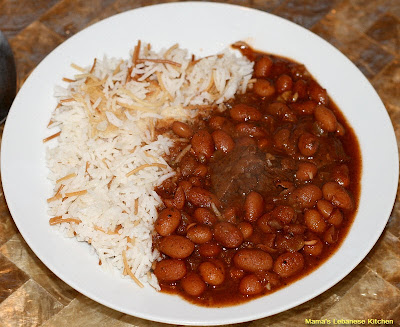 Lebanese Beef Chili Stew: Fasolia Beans With Rice Recipe