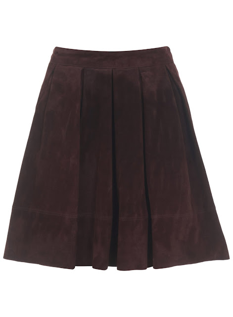 maroon suede skirt, burgundy suede skirt, selfridge red suede skirt,