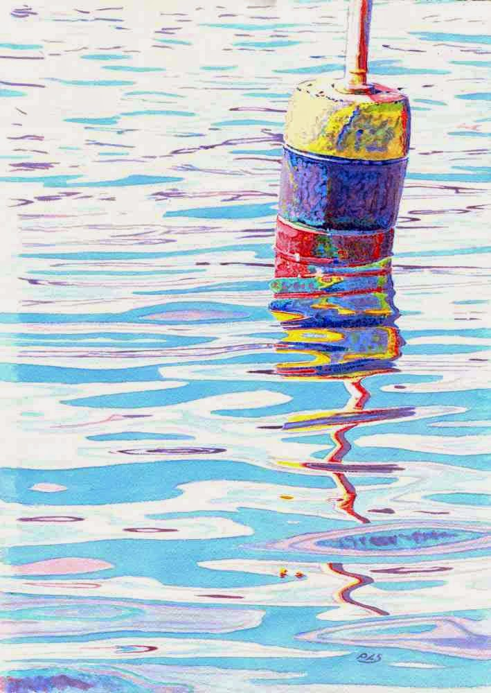 """Buoy Surreal"" - Watercolor by Paul Sherman"