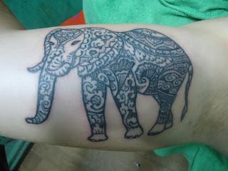 funky buddha tattoo thamel kathmandu henna elephant. Black Bedroom Furniture Sets. Home Design Ideas