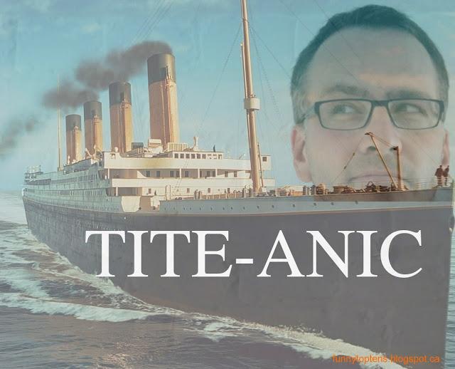 Ron tite-anic Titanic parody