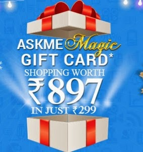 Askmebazaar: Get Askmebazaar Gift Voucher worth of Rs 897 in just at Rs 299