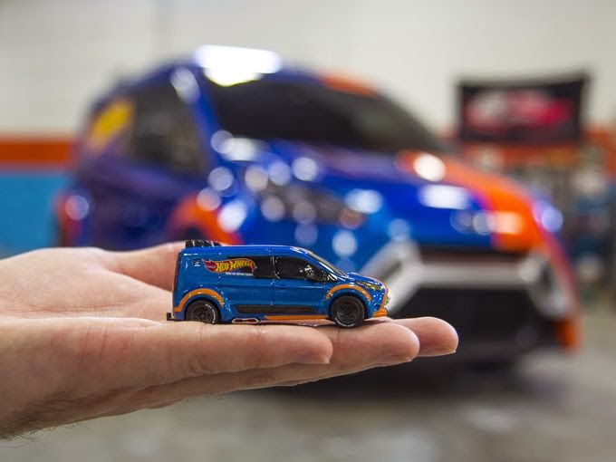 Ford Creates a Hot Wheel Transit Connect