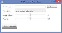 Convierte archivos de Word en audio