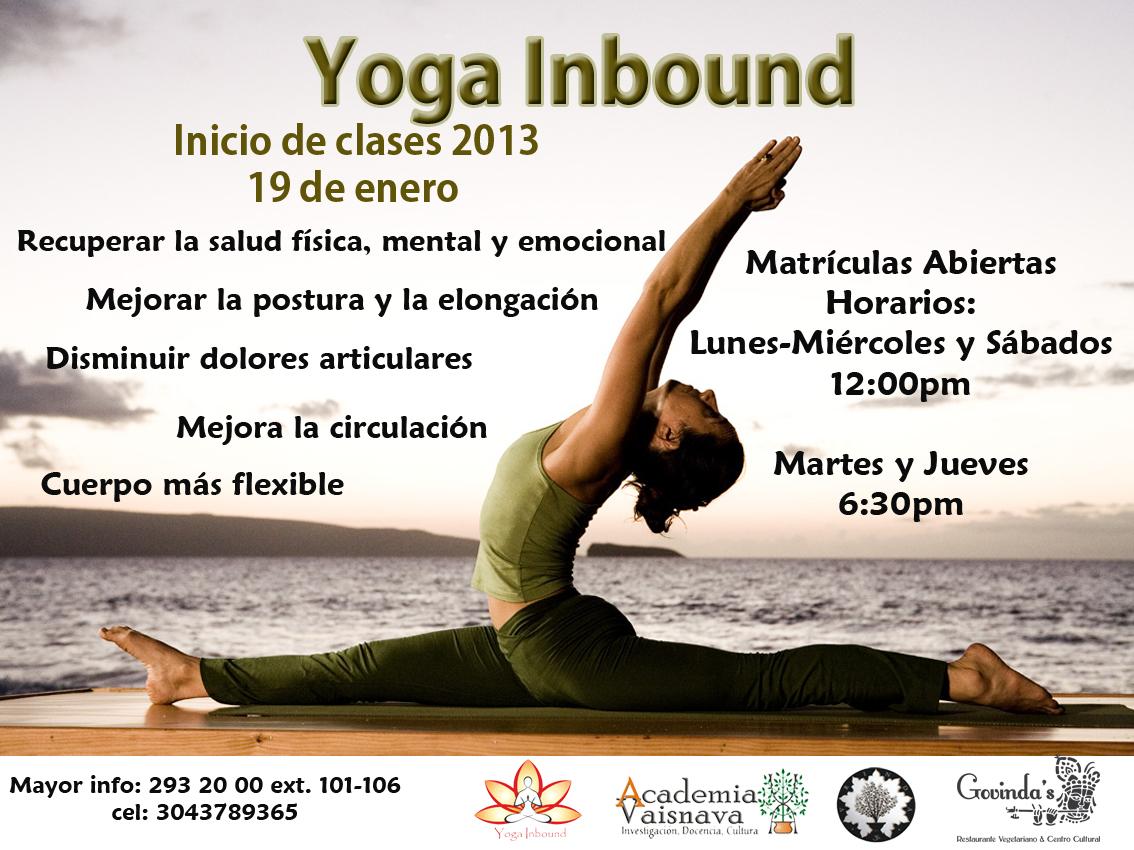 Inicio clases de yoga 2013 govindas restaurante - Clases de cocina medellin ...
