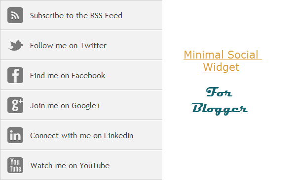 simple social subscription blogger widget
