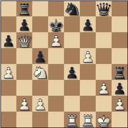 Partida de ajedrez Ponce-Ridameya, posición después de 26.Cc4