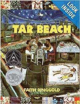 http://www.amazon.com/Tar-Beach-Faith-Ringgold/dp/0517885441/ref=sr_1_1?s=books&ie=UTF8&qid=1389941269&sr=1-1&keywords=tar+beach
