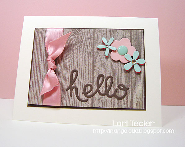 Hello card-designed by Lori Tecler/Inking Aloud-dies from Paper Smooches