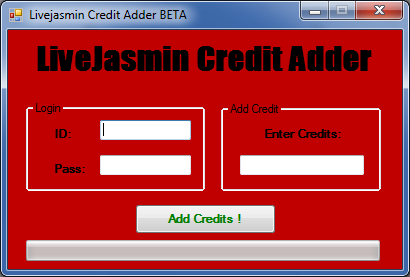 Livejasmin Credit Adder BETA