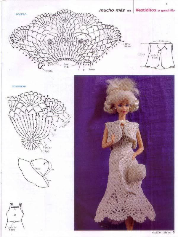 Puntos y Puntadas: Ropa para Barbie a Crochet.