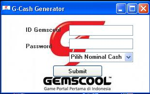 Cheat G-CASH Generator Work 100000000000000%
