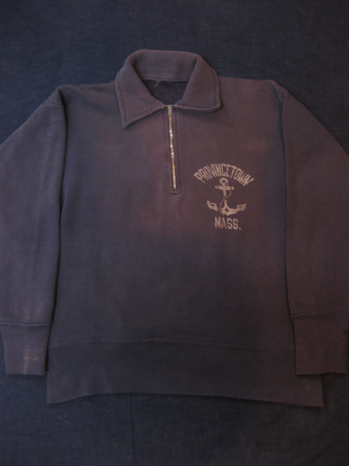 画像①               50's 襟付き half zip.               SWEAT SHIRTS               P-TOWN U.S.NAVY