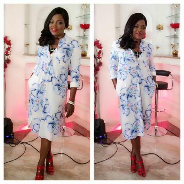 Funke Akindele Shines in Blue