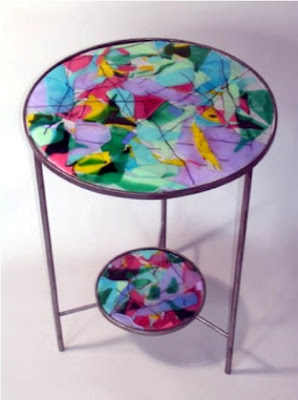 Stained glass table, Antique Table, Stained Table, Table