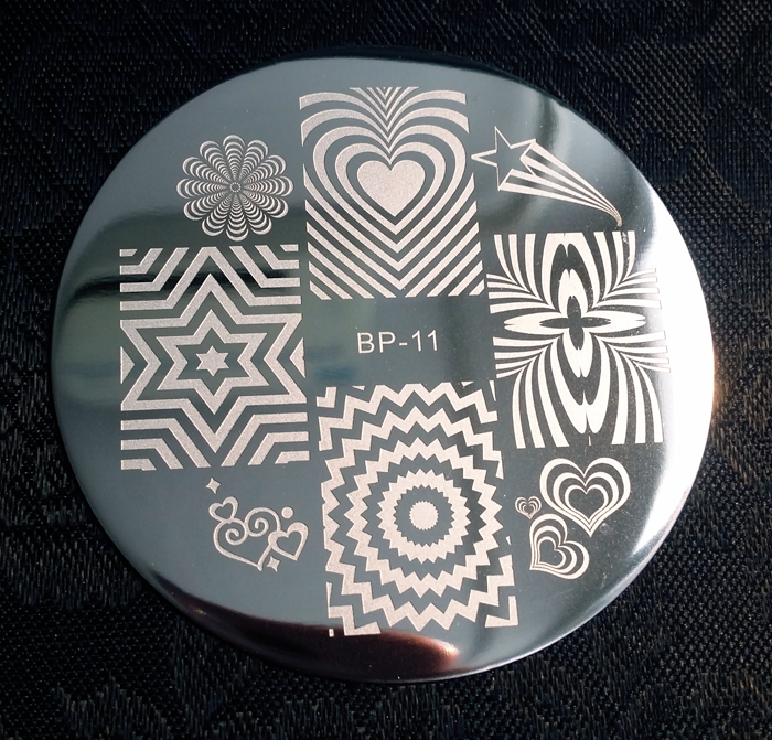 Radiating Patterns Nail Art Stamp Template Image Plate BORN PRETTY BP11