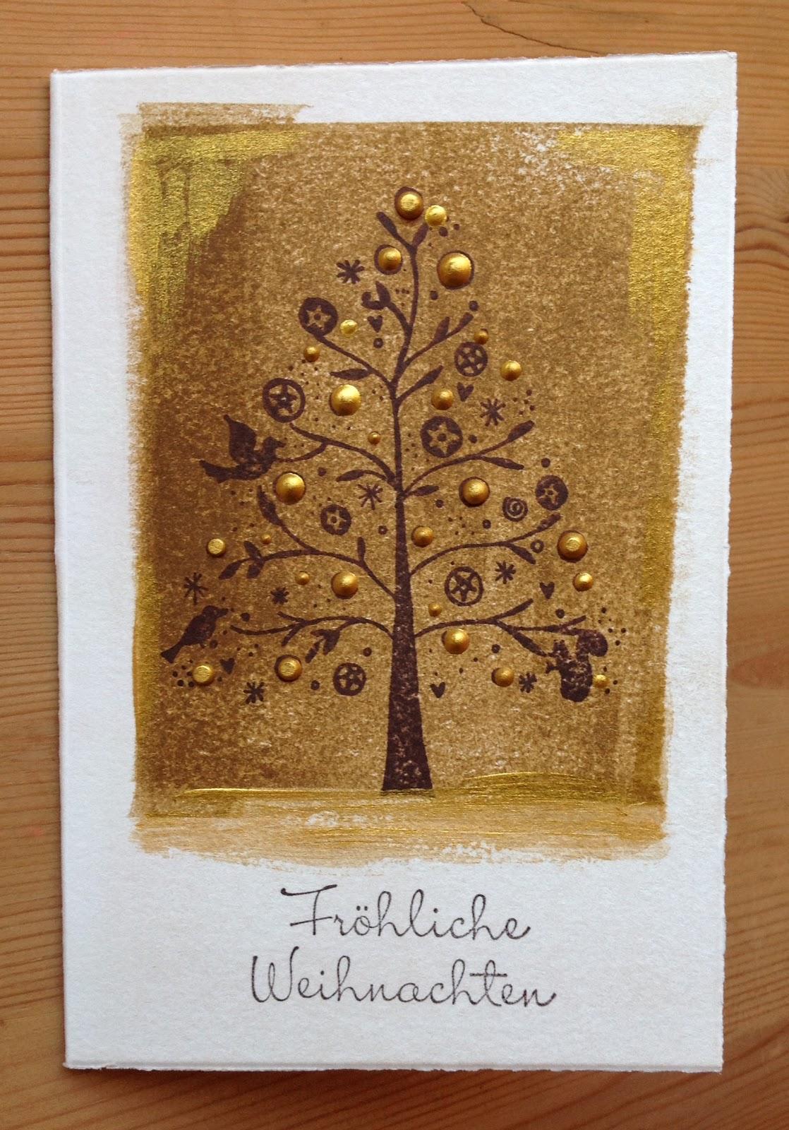 Stempel Weihnachtsbaum HEINDESIGN, Schrift von SU