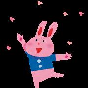 お花見のイラスト「ウサギ」