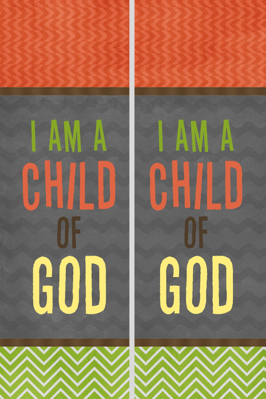 Free DIY Bookmarks For The 2013 Primary Theme I Am A Child Of God