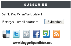 How To Add Subscribe Box to Blogger/Website