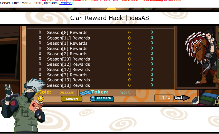 clan reward hack season 1 season 23 tool fiddler swf