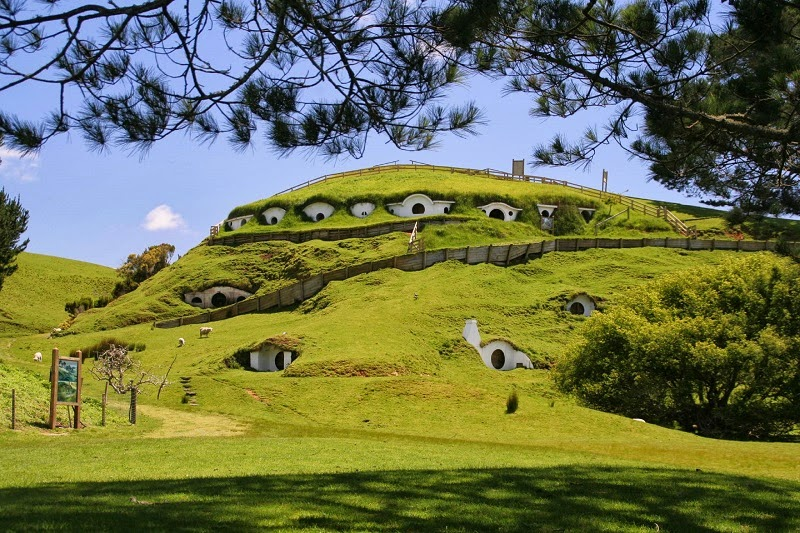Hobbiton - the Real Hobbit Village in Matamata, New Zealand title=