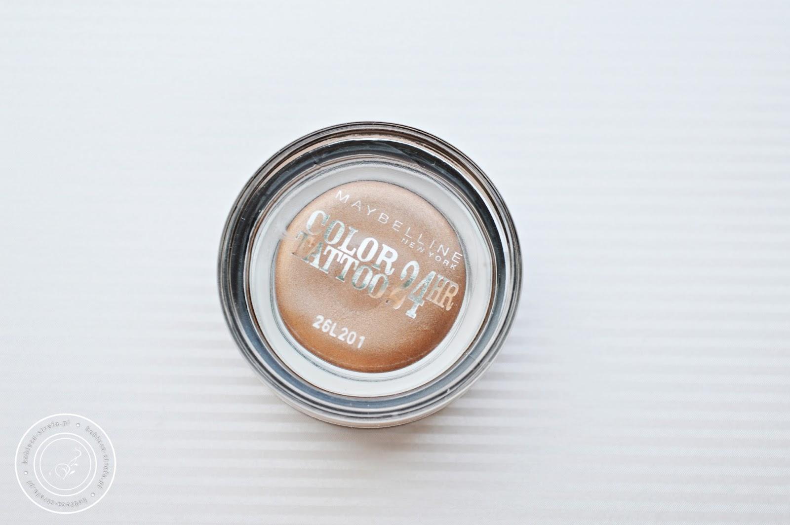 Kremowo - żelowy cień do powiek Color Tattoo 24 HR od Maybelline