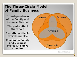 The interdependence of the Family, Business and Ownership Elements of all Family Businesses