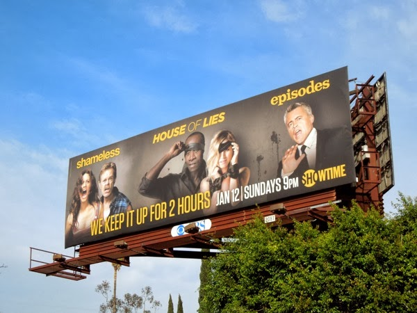 We keep it up for 2 hours Showtime Sundays billboard