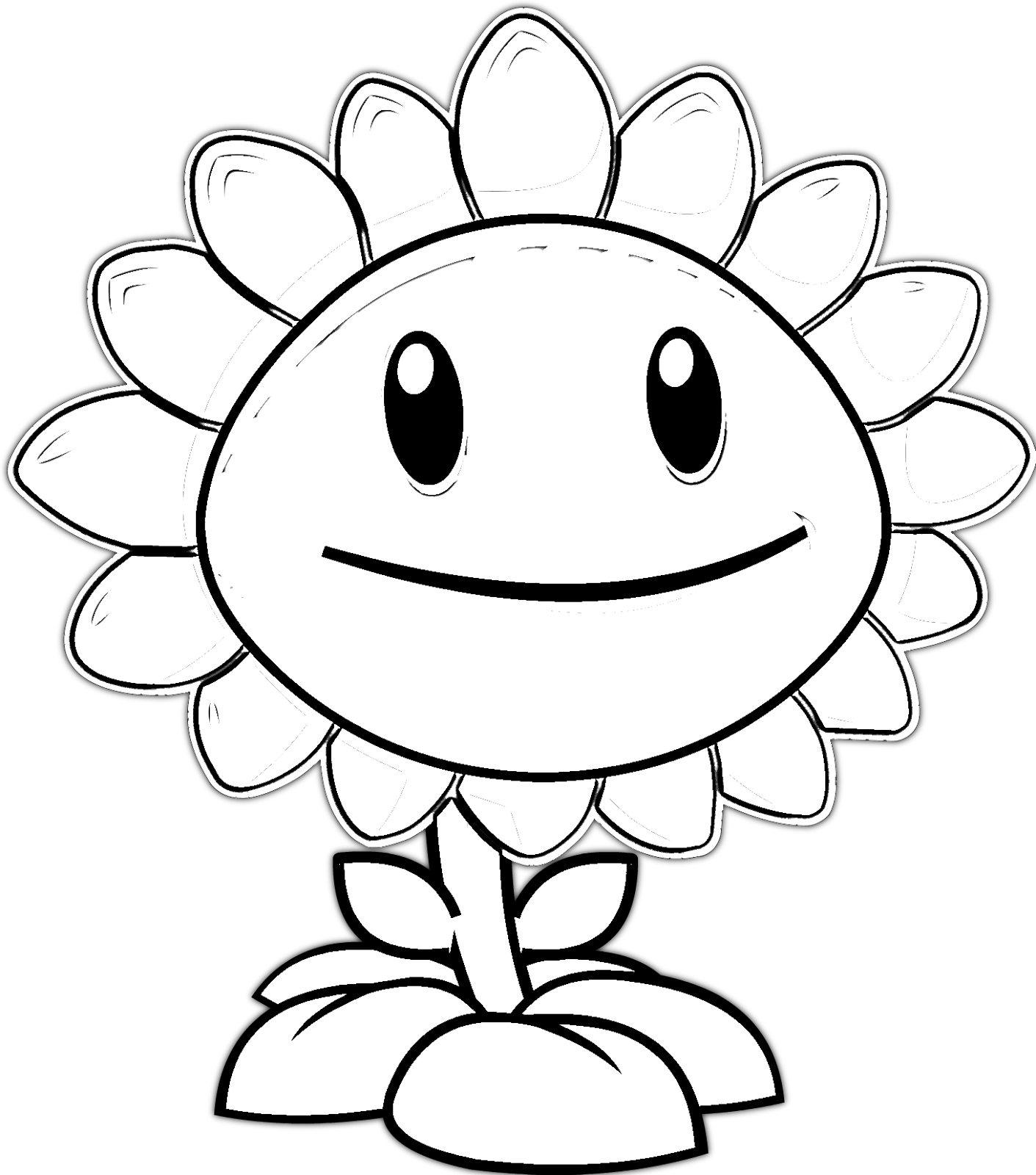 plantas contra zombies coloring pages