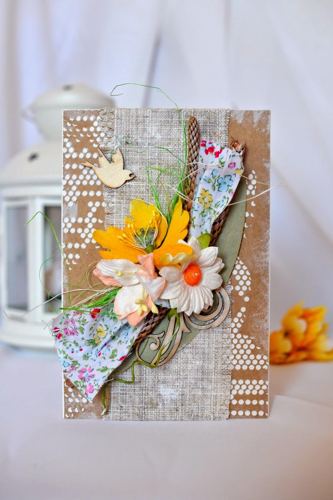 Открытки с сухими цветами 90