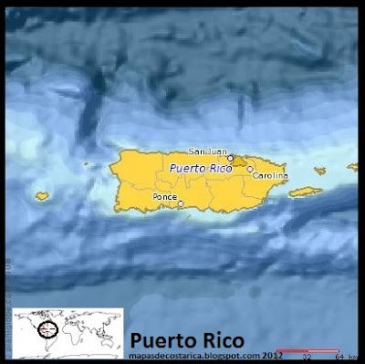 Mapa de Puerto Rico (planiglobe)